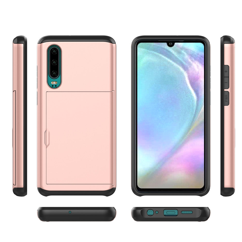 DURABLE HUAWEI CASE + CARD HOLDER