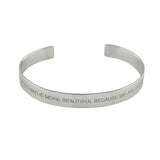 """Beautiful"" Mantra Cuff - VETIVR  - 1"