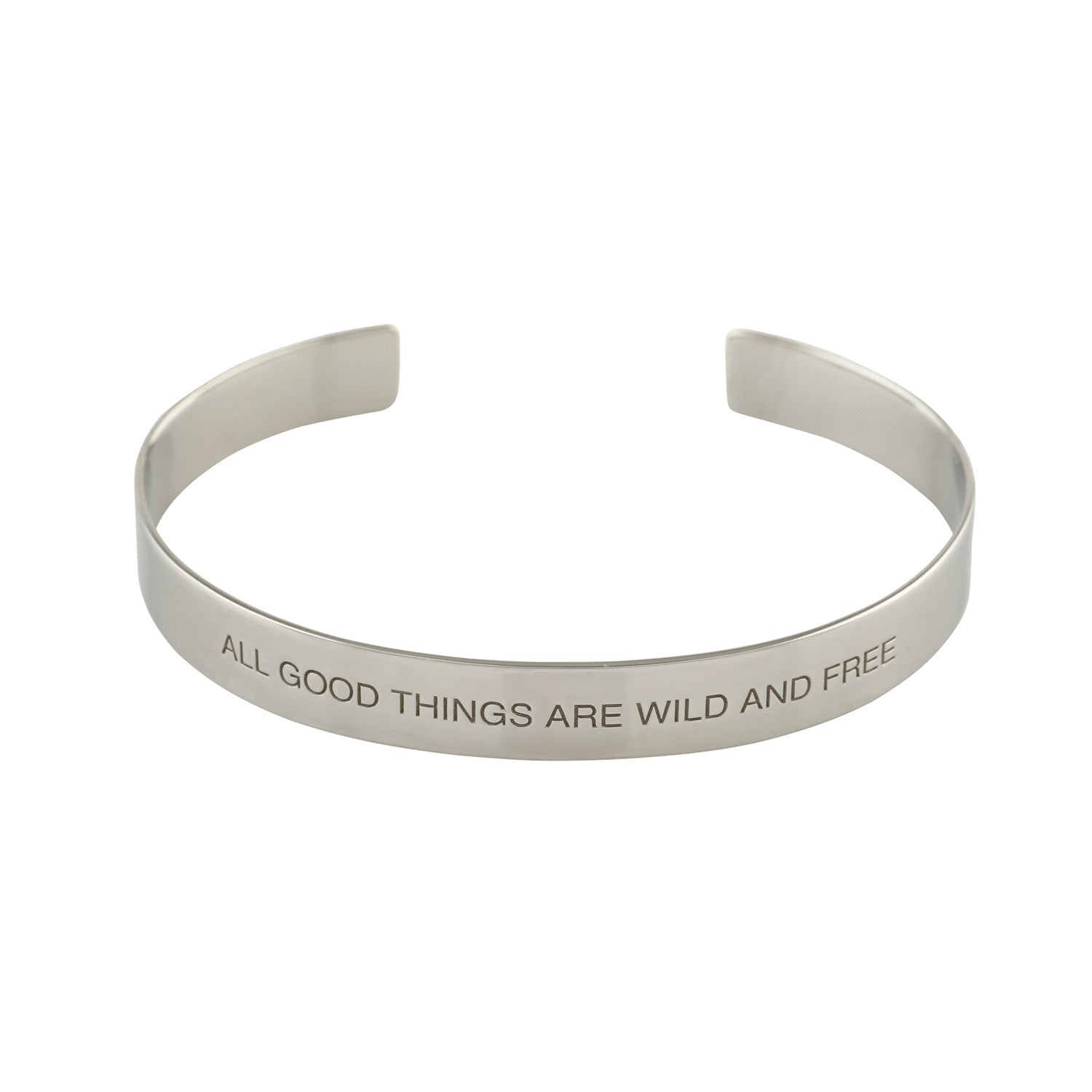"""Wild And Free"" Mantra Cuff - VETIVR  - 1"