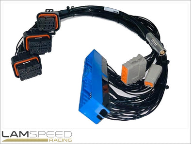 EMtron Nissan R32-R33 GTR Patch Harness to KV Series ECU - available from Lamspeed Racing.