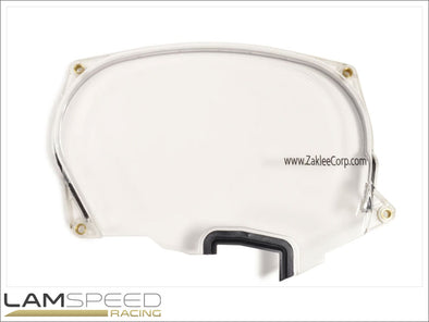 Zaklee Clear Cam Gear Cover for Mitsubishi Evo 4-8 - available from Lamspeed Racing.