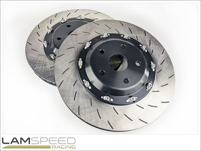 Lamspeed Racing 2 Piece Floating Front Brake Rotors - Toyota GR Yaris 2020+.