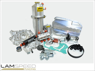 Magnus Motorsports 4G63 Mitsubishi Evo 4-9 Dry Sump Kit - TANK NOT INCLUDED - available from Lamspeed Racing.