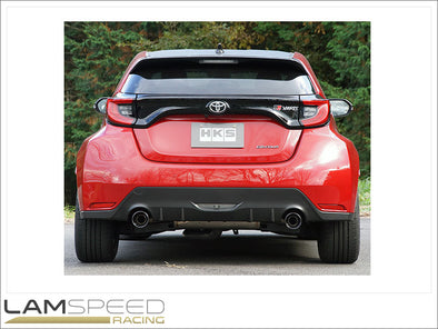 HKS LEGAMAX Premium Catback Exhaust - Toyota Yaris GR (31021-AT006) - available from Lamspeed Racing.