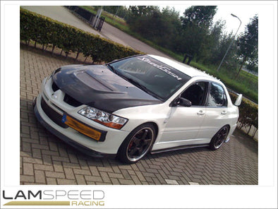 Rexpeed Mitsubishi Evo 7-9 CT9A Carbon Side Skirt Extensions - available from Lamspeed Racing.