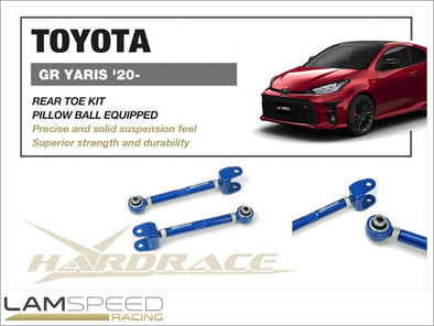 Hardrace Adjustable Rear Toe Arm Kit - 2020+ Toyota GR Yaris GXPA16 MXPA12