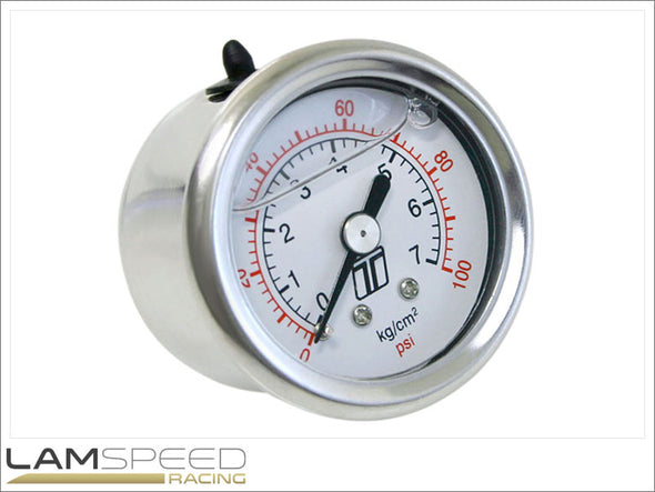 Turbosmart Gauge 0-100psi – Liquid Filled Suit FPR & OPR Series - available from Lamspeed Racing.