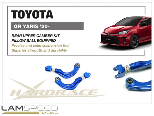 Hardrace Rear Upper Camber Kit - Toyota GR YARIS 2020 GXPA16 MXPA12 (Pillow Ball) - available from Lamspeed Racing.