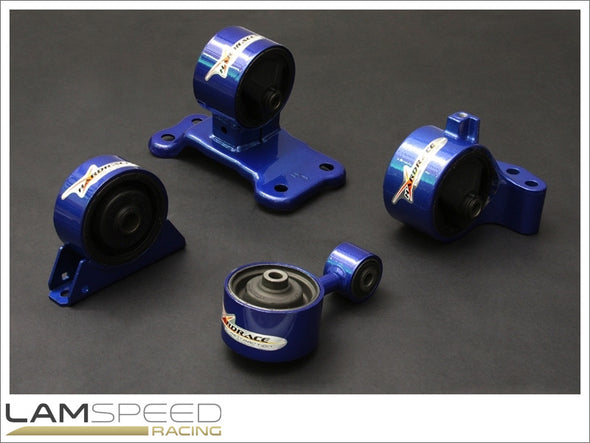 Hardrace Hardened Engine Mount - Mitsubishi EVO 7-9, 5MT USDM - Complete 4 piece Kit - available from Lamspeed Racing.