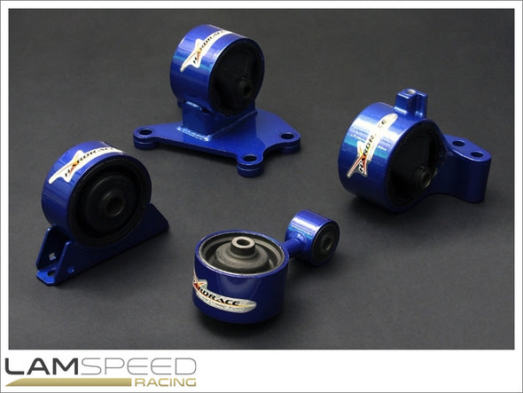 Hardrace Hardened Engine Mount - Mitsubishi EVO 7-9, 6MT USDM - Complete 4 piece Kit - available from Lamspeed Racing.