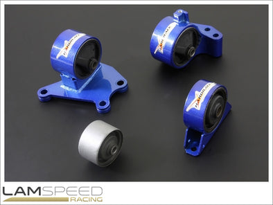 Hardrace Hardened Engine Mount - Mitsubishi EVO 7-9, 6MT - Complete 4 Piece Kit - available from Lamspeed Racing.