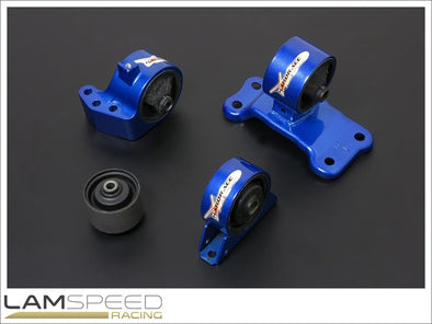 Hardrace Hardened Engine Mount - Mitsubishi EVO 7-9, 5MT - Complete 4 Piece Kit - available from Lamspeed Racing.