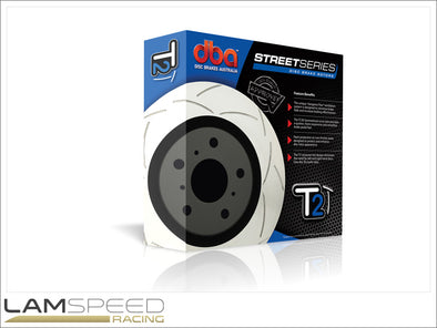 DBA - Street Series T2 Slotted Rotors - Mitsubishi Evolution 4-9 - available from Lamspeed Racing.