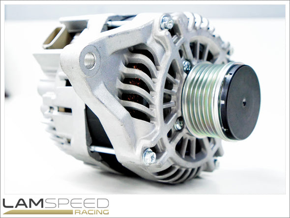 Lamspeed Racing - High Output Alternator - Mitsubishi Evo 1, 2, 3 & 10 - 160 Amp - available from Lamspeed Racing.