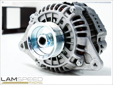 Lamspeed Racing - High Output Alternator - Mitsubishi Evo 4-9 - 170 Amp - available from Lamspeed Racing.