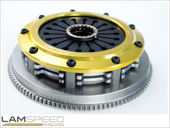 Ogura Racing ORC 659D Twin Plate Clutch and Flywheel Assembly Mitsubishi Evolution 4-9 - available from Lamspeed Racing.
