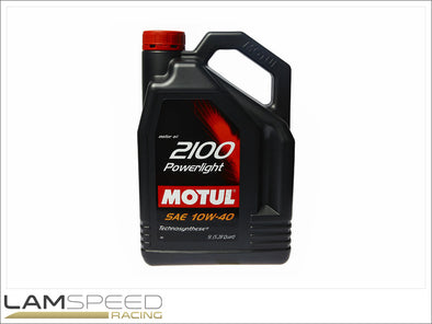 Motul 2100 Power Light - 10W40 - 5L - available from Lamspeed Racing.