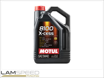 Motul 8100 X-CESS - 5W40 - 5L - available from Lamspeed Racing.