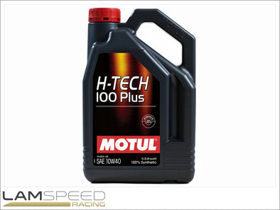 Motul H-Tech 100 Plus - 10W40 - 5L - available from Lamspeed Racing.