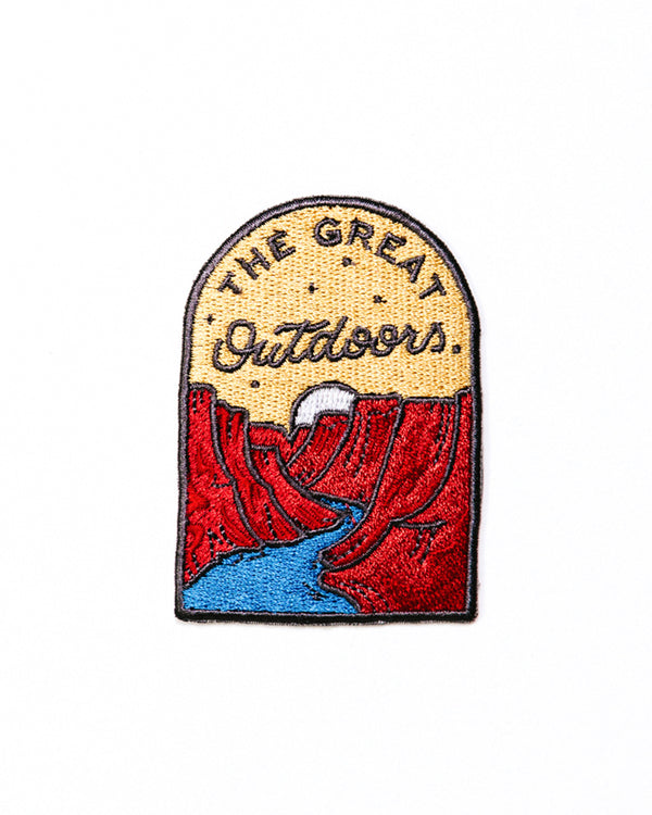 THE GREAT OUTDOORS SET OF 3 PATCHES