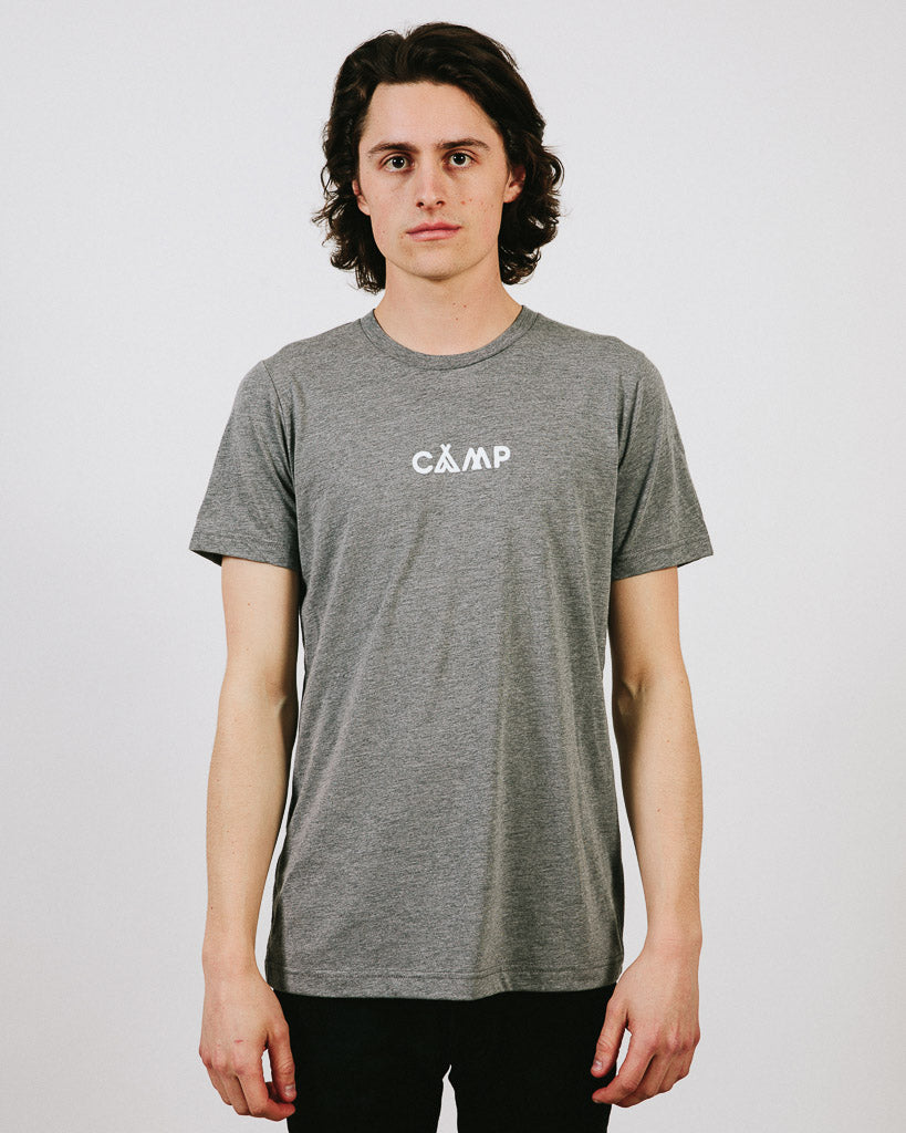 PEAKED T-SHIRT // TRI GREY