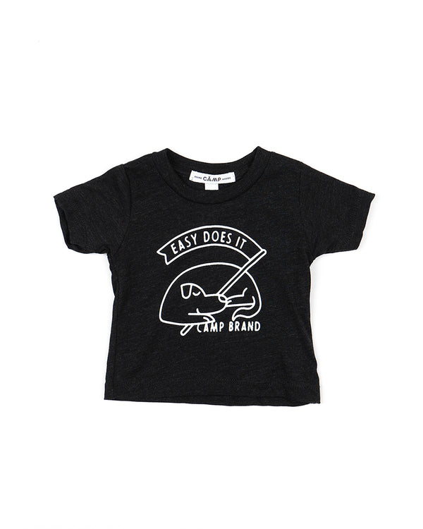 BABY GOOD DOG T-SHIRT // CHARCOAL