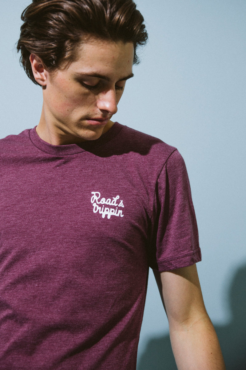 ROAD TRIPPIN T-SHIRT // MAROON HEATHER