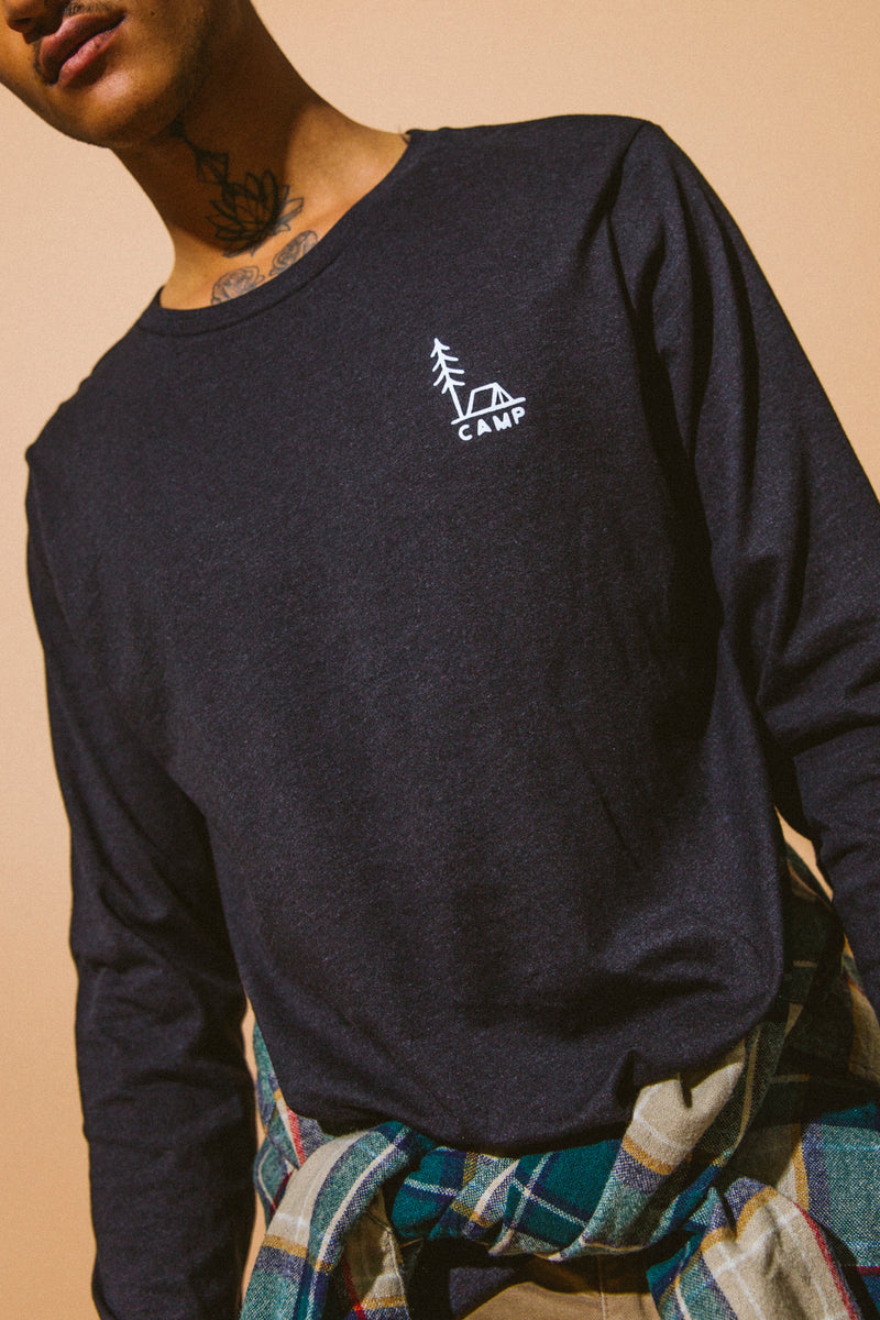 In Tents Long Sleeve // Black Heather