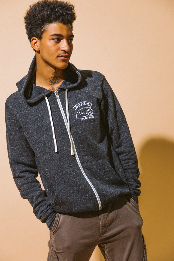 GOOD DOG ZIP HOODIE // TRI CHARCOAL