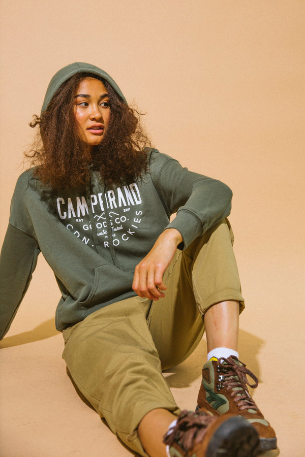 Tried & True Hooded Sweatshirt // Military Green