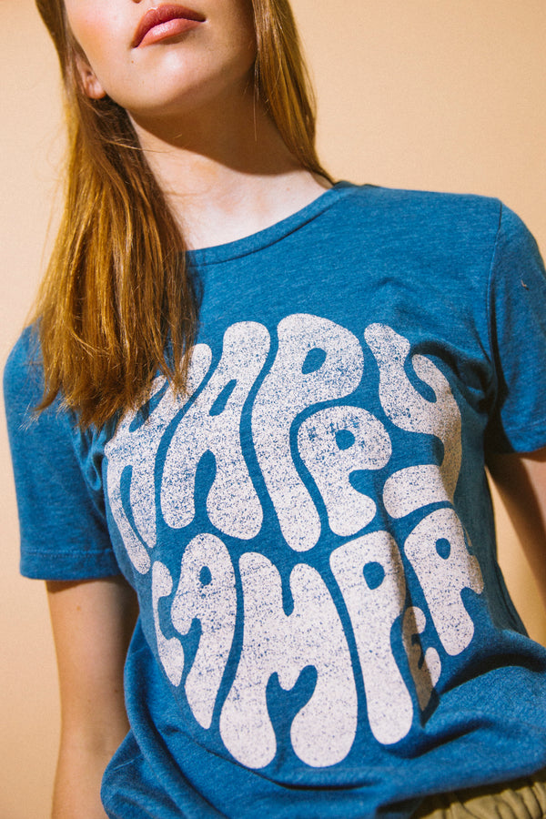 HAPPIEST CAMPER RELAXED T-SHIRT // TEAL