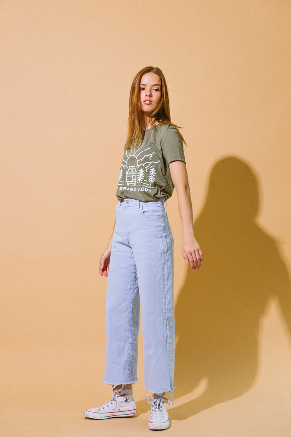 GOING TO THE SUN RELAXED T-SHIRT // OLIVE