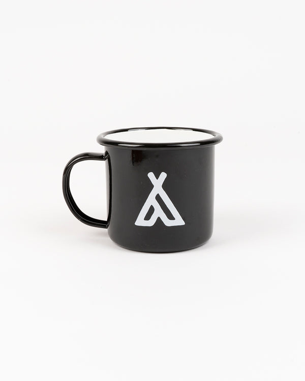 Campers Logo Enamel Mug 12 oz // Black