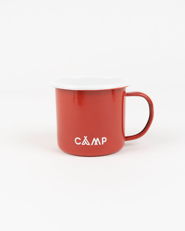 Campers Logo Enamel Mug 12 oz // Red