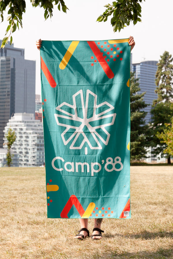 Camp'88 Beach Towel // Teal