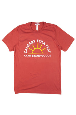 Camp x Folk Fest T-Shirt // Rust
