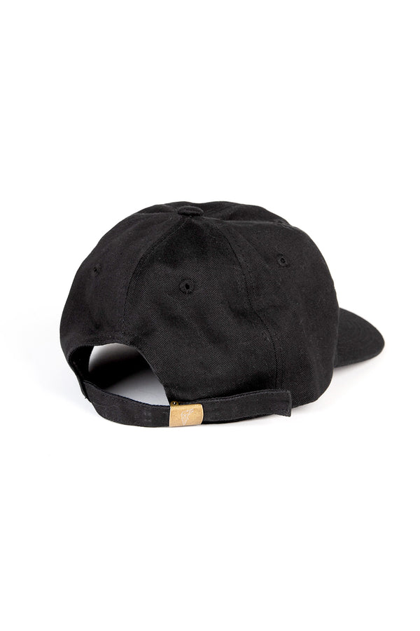 Camp'88 Unstructured 6 Panel Cap // Black