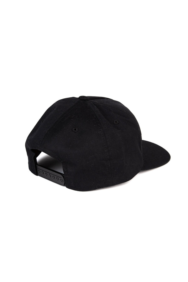 Happiest Camper Snapback Hat // Black