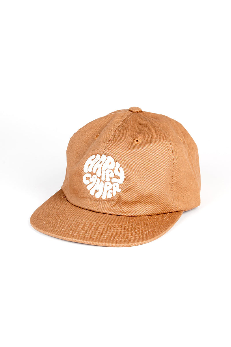 Happiest Camper Unstructured 6 Panel Cap // Copper