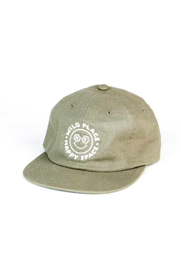 Happy Space Unstructured 6 Panel Cap // Moss Green