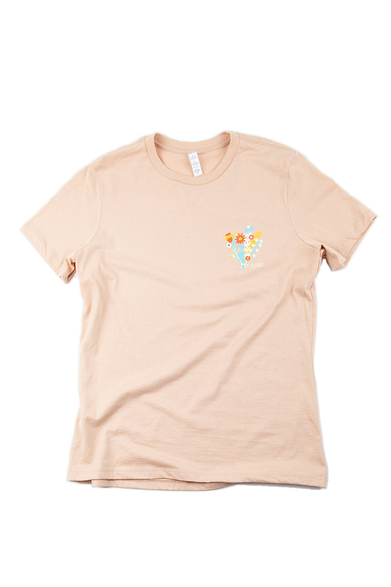 Flower Power Relaxed T-Shirt // Sand Dune