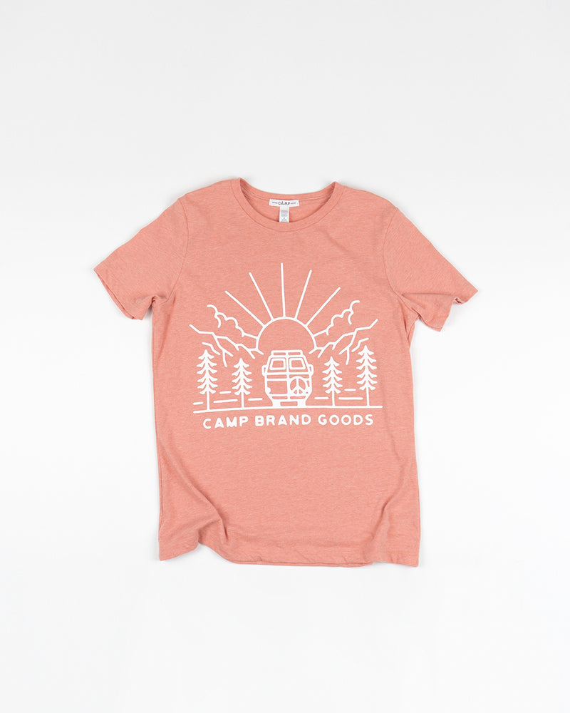 GOING TO THE SUN RELAXED T-SHIRT // SUNSET HEATHER