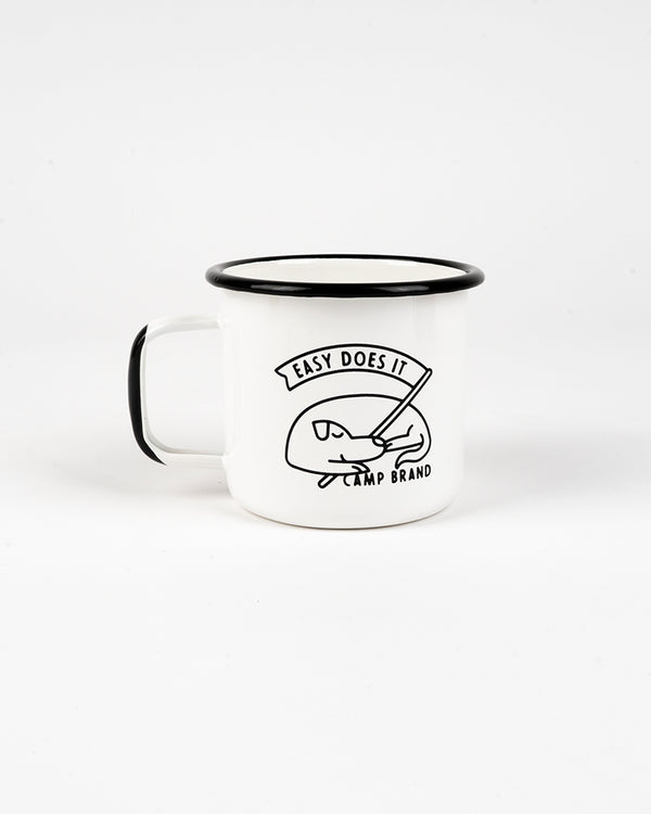 GOOD DOG ENAMEL MUG 16 OZ // WHITE