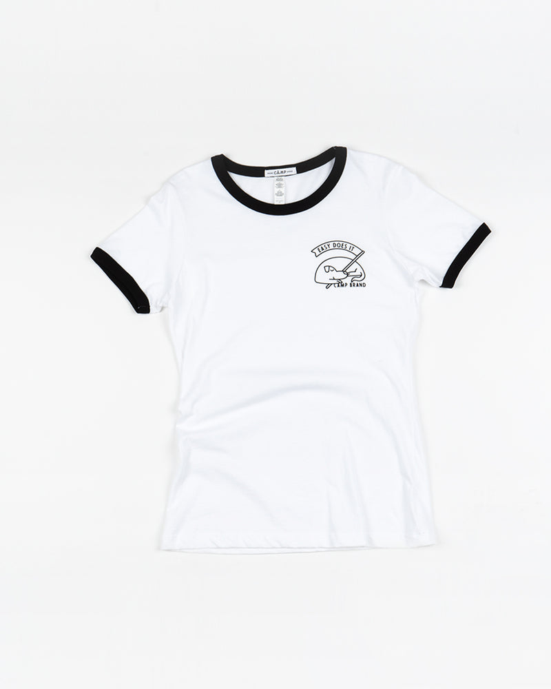 Good Dog Ringer -Shirt // White + Black