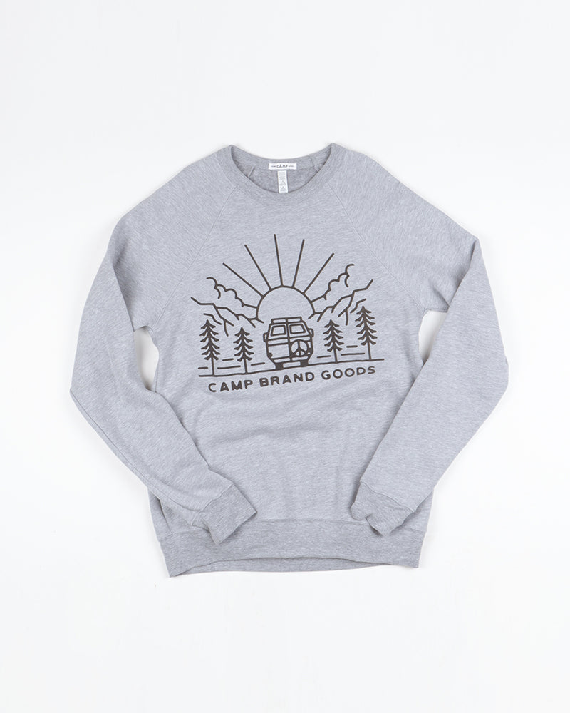Going To The Sun Sweatshirt // Athletic Grey