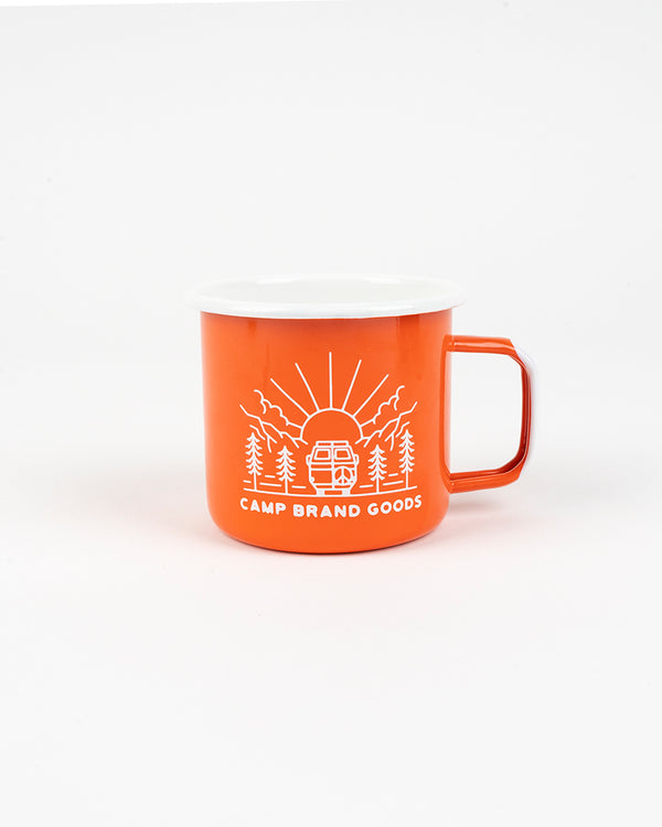 GOING TO THE SUN ENAMEL MUG 16 OZ // ORANGE