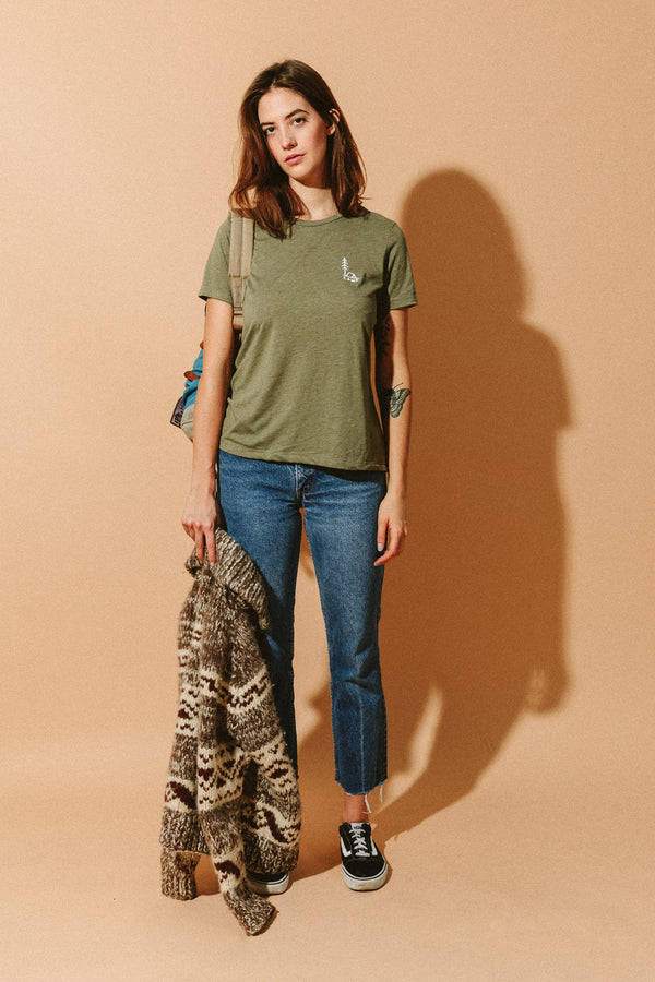 In Tents Relaxed T-Shirt // Olive
