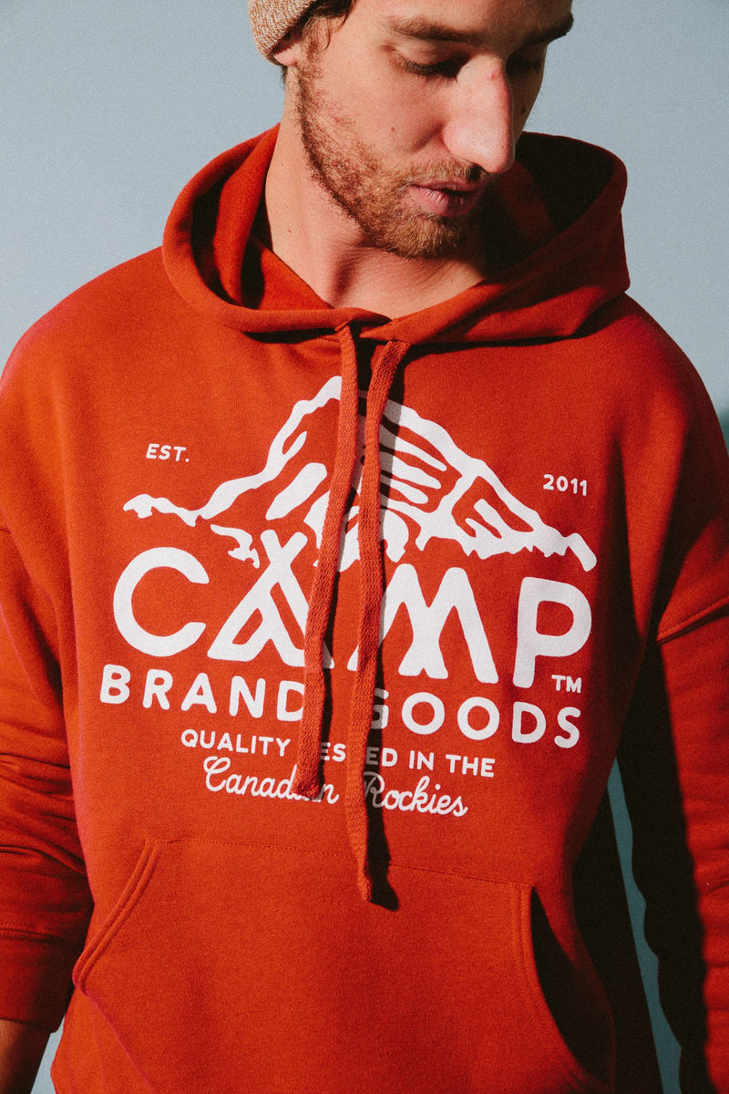 Peak Logo Hooded Sweatshirt // Brick