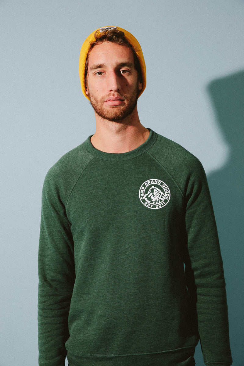 Heritage Crest Crewneck // Emerald Heather
