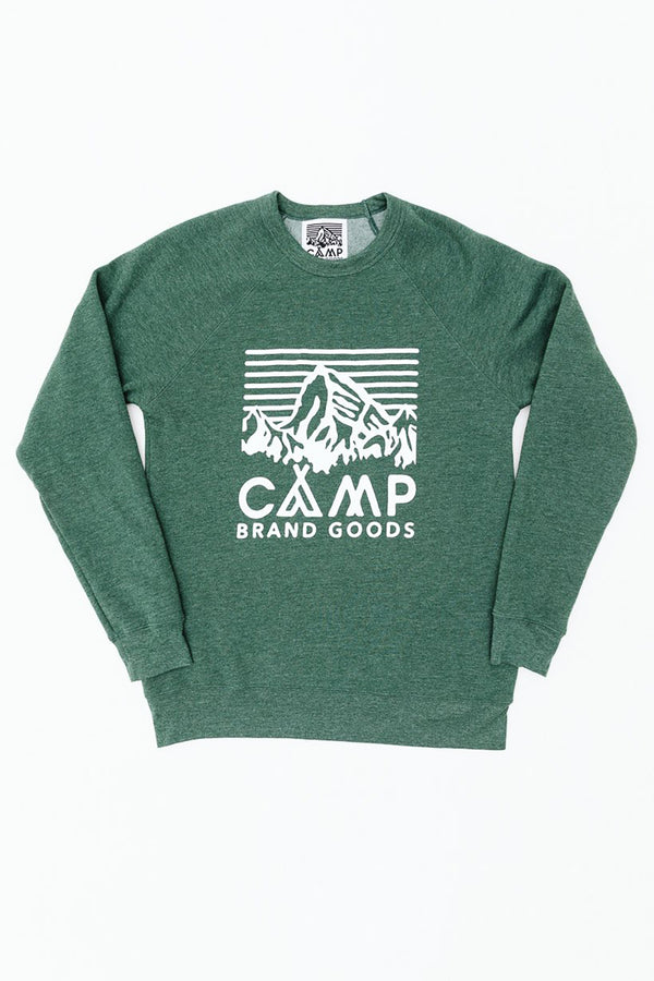 Heritage Logo Sweatshirt // Emerald Heather